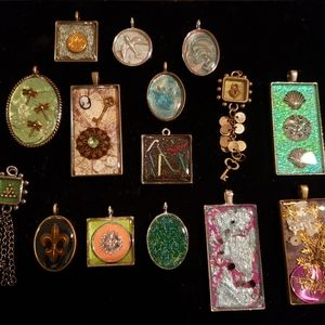 Hand crafted necklace pendants